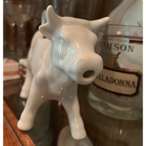 Vintage Kitchen - white porcelain cow creamer